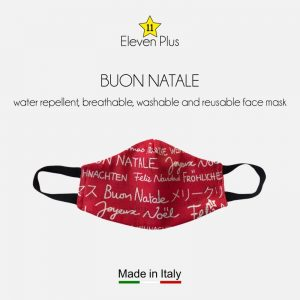 water repellent breathable washable reusable christmas face mask buon natale