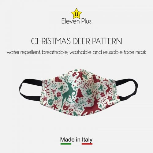 water repellent breathable washable reusable christmas face mask christmas deer pattern