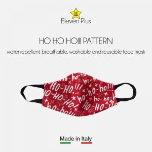 water repellent breathable washable reusable christmas face mask ho ho ho