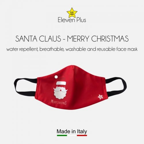 water repellent breathable washable reusable christmas face mask santa claus merry christmas