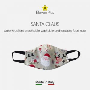 water repellent breathable washable reusable christmas face mask with santa claus