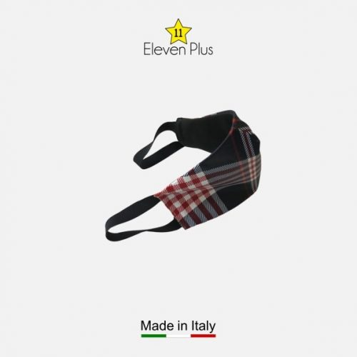 water repellent breathable washable reusable face mask blue red white tartan pattern for men 2