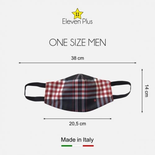 water repellent breathable washable reusable face mask blue red white tartan pattern one size men