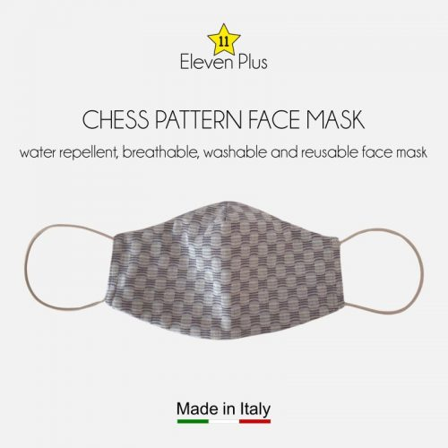 water repellent breathable washable reusable face mask chess pattern