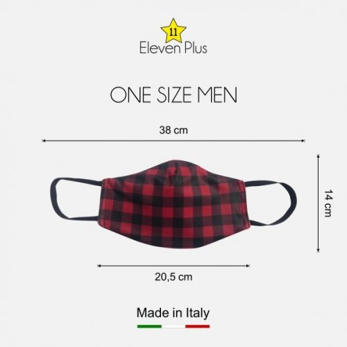 water repellent breathable washable reusable face mask chess red and black pattern one size men