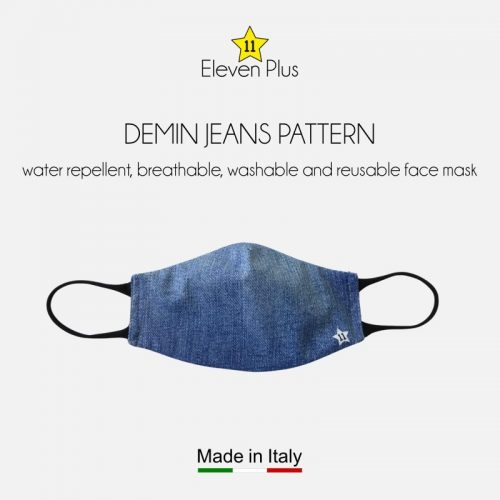 water repellent breathable washable reusable face mask demin jeans pattern for women