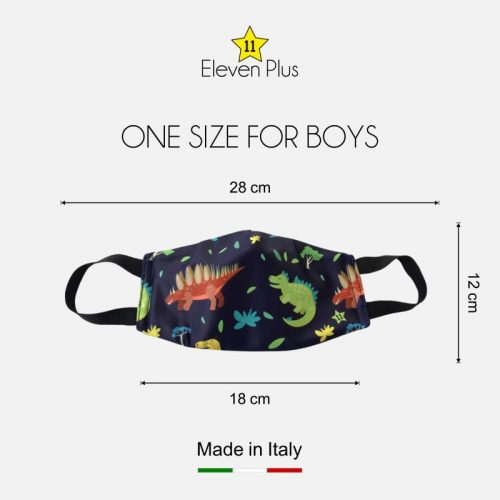 water repellent breathable washable reusable face mask dinosaurs pattern one size for boys