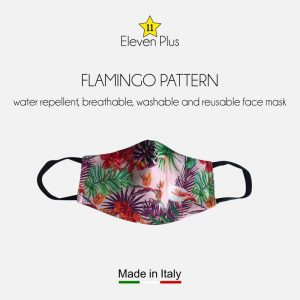 water repellent breathable washable reusable face mask flamingo pattern for women