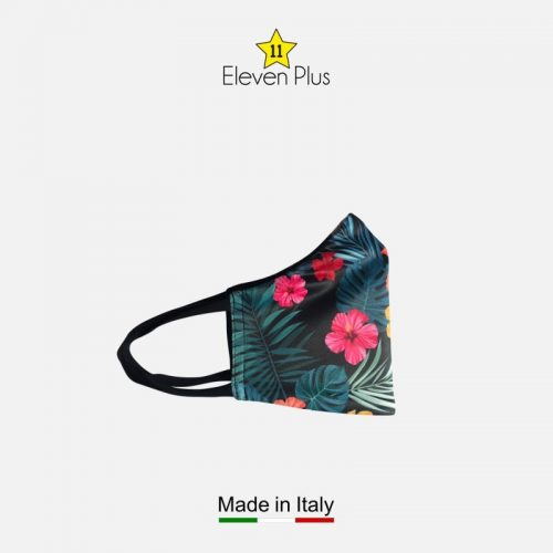 water repellent breathable washable reusable face mask floral hibiscus pattern for women 2