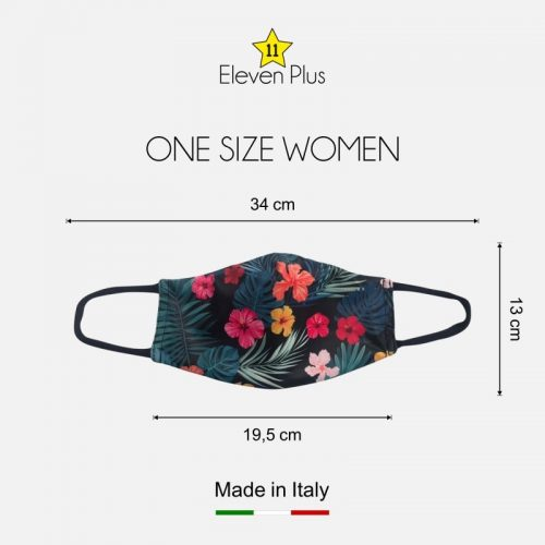 water repellent breathable washable reusable face mask floral hibiscus pattern one size for women