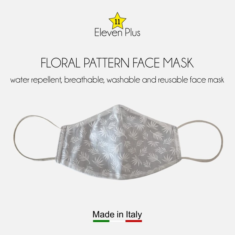 water repellent breathable washable reusable face mask floral pattern