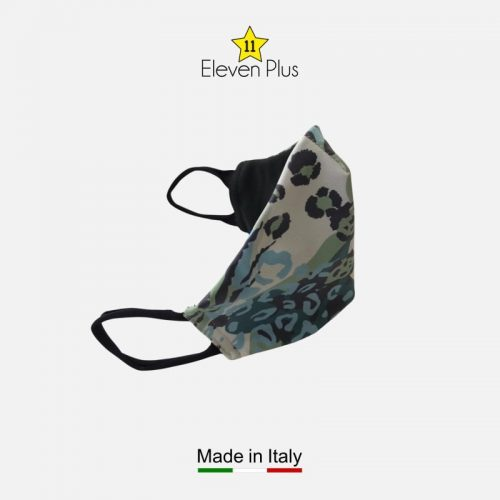 water repellent breathable washable reusable face mask green blue white animalier pattern for women 2