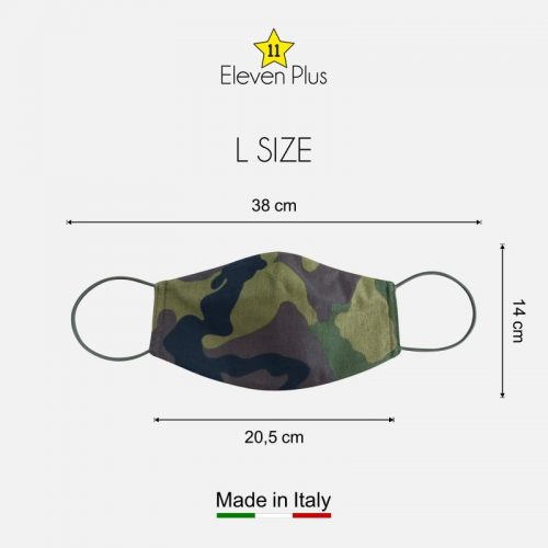 water repellent breathable washable reusable face mask green camouflage l