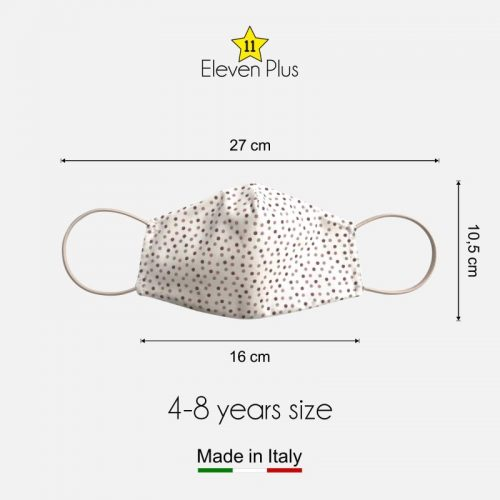 water repellent breathable washable reusable face mask pois pattern for girls 4 8 years