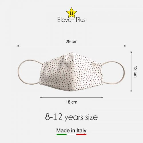 water repellent breathable washable reusable face mask pois pattern for girls 8 12 years