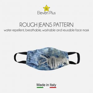 water repellent breathable washable reusable face mask rough jeans pattern for men