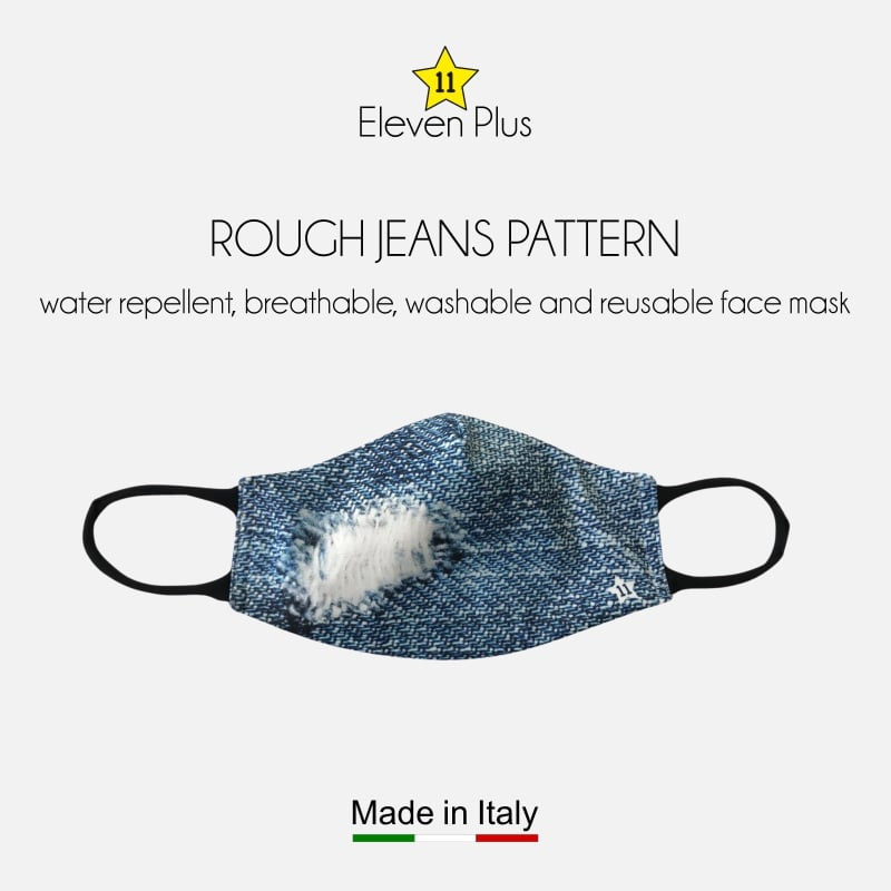 water repellent breathable washable reusable face mask rough jeans pattern for women