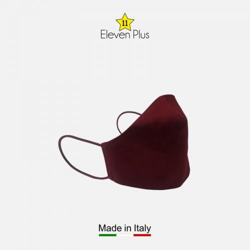 water repellent breathable washable reusable face mask solid burgundy 2
