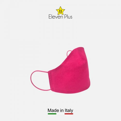 water repellent breathable washable reusable face mask solid fuchsia 2