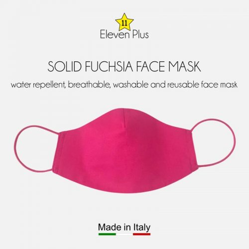 water repellent breathable washable reusable face mask solid fuchsia
