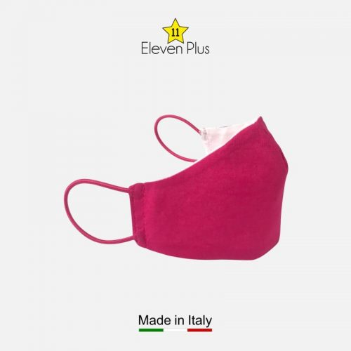 water repellent breathable washable reusable face mask solid fuchsia for girls 2