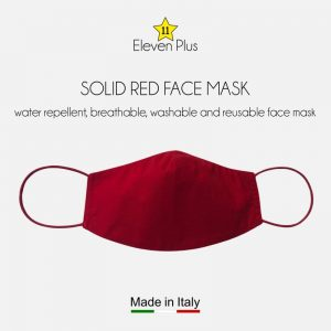water repellent breathable washable reusable face mask solid red
