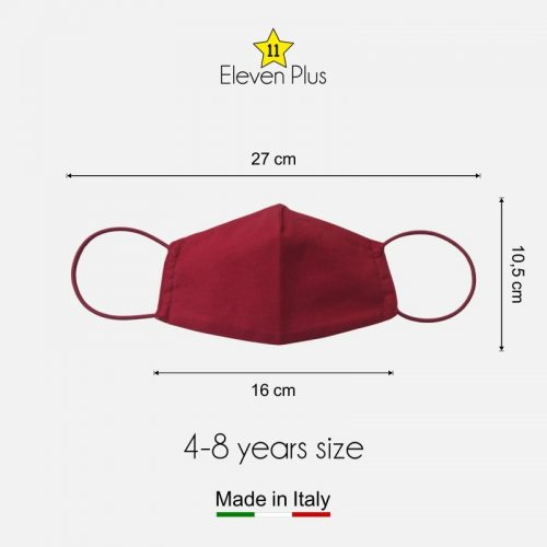 water repellent breathable washable reusable face mask solid red for boys 4 8 years