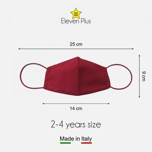 water repellent breathable washable reusable face mask solid red for girls 2 4 years