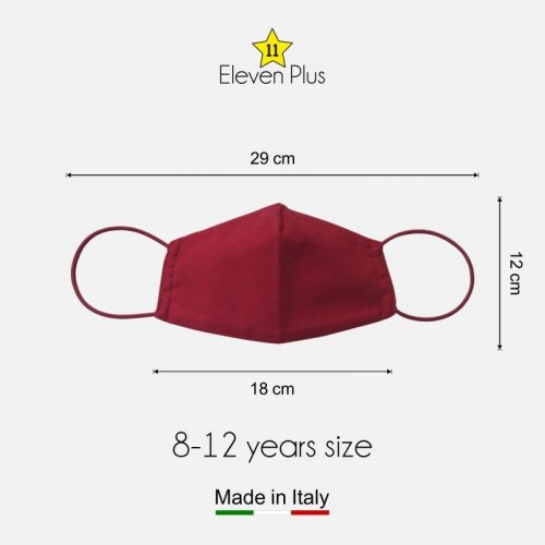 water repellent breathable washable reusable face mask solid red for girls 8 12 years